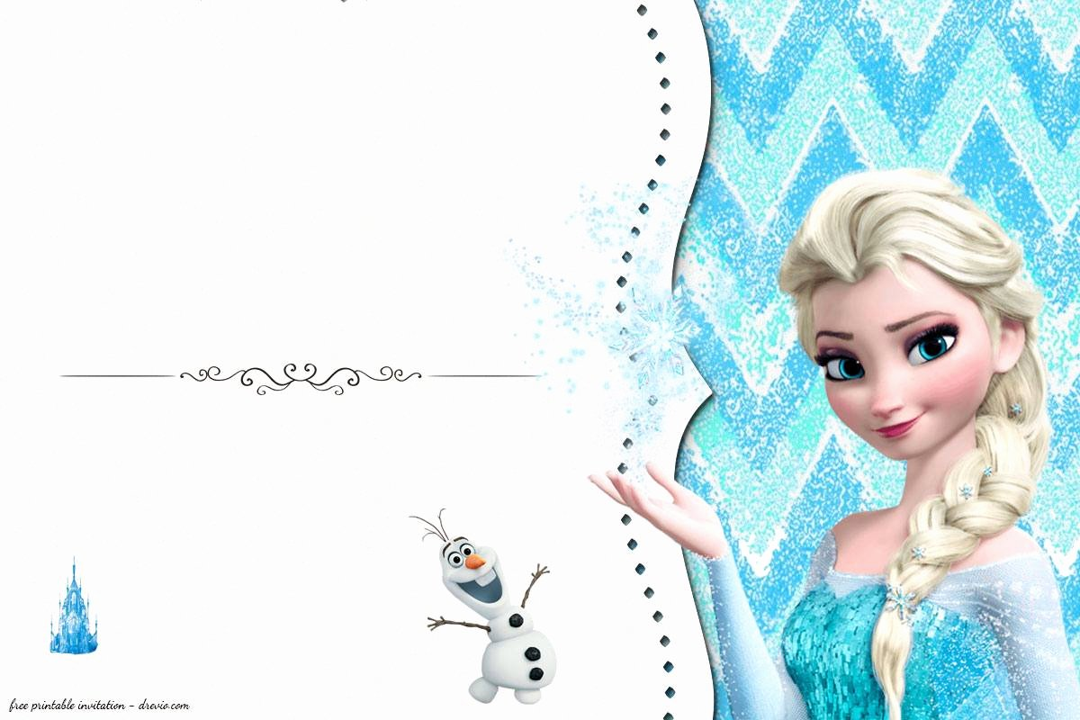 Frozen Invitation Template Free Download Elegant Free Frozen Birthday Invitation Templates Free