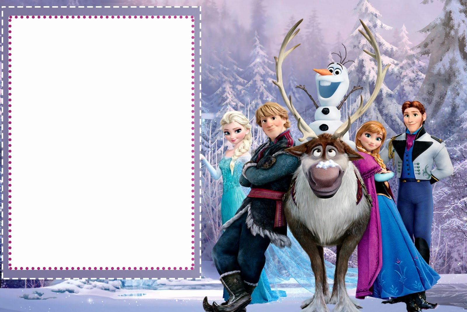 Frozen Invitation Template Free Download Elegant Frozen Free Printable Cards or Party Invitations Oh My