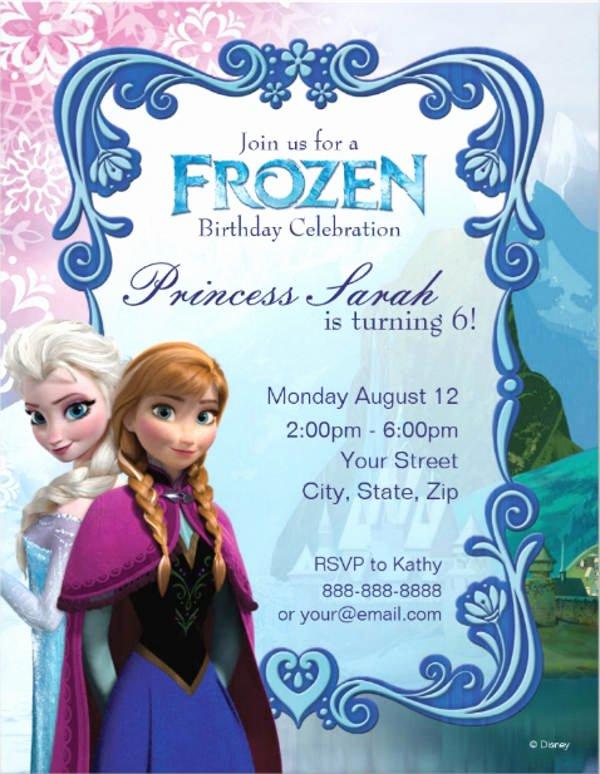 Frozen Invitation Template Free Download Fresh 9 Frozen Party Invitation Templates Free Editable Psd
