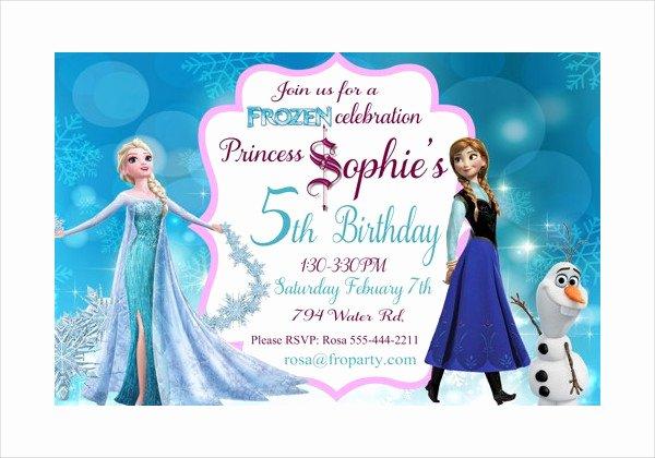 Frozen Invitation Template Free Download Inspirational 13 Frozen Invitation Templates Word Psd Ai