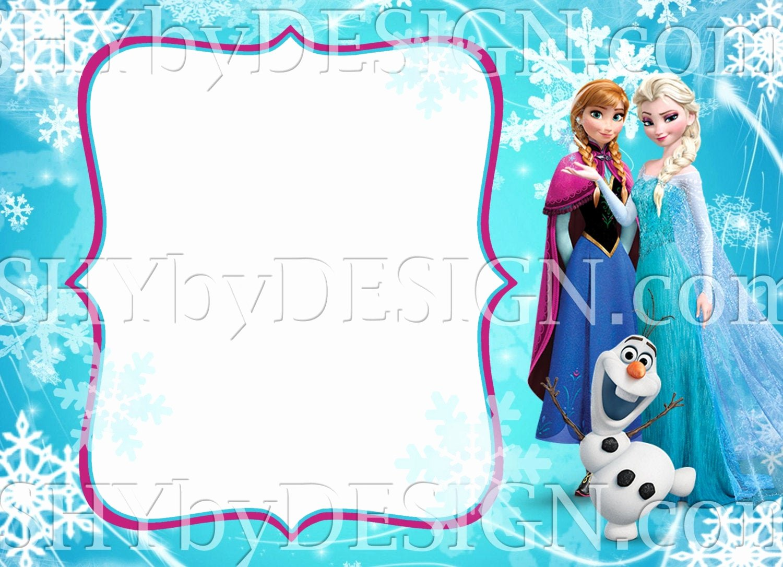 Frozen Invitation Template Free Download Lovely Diy Frozen Invitation Template