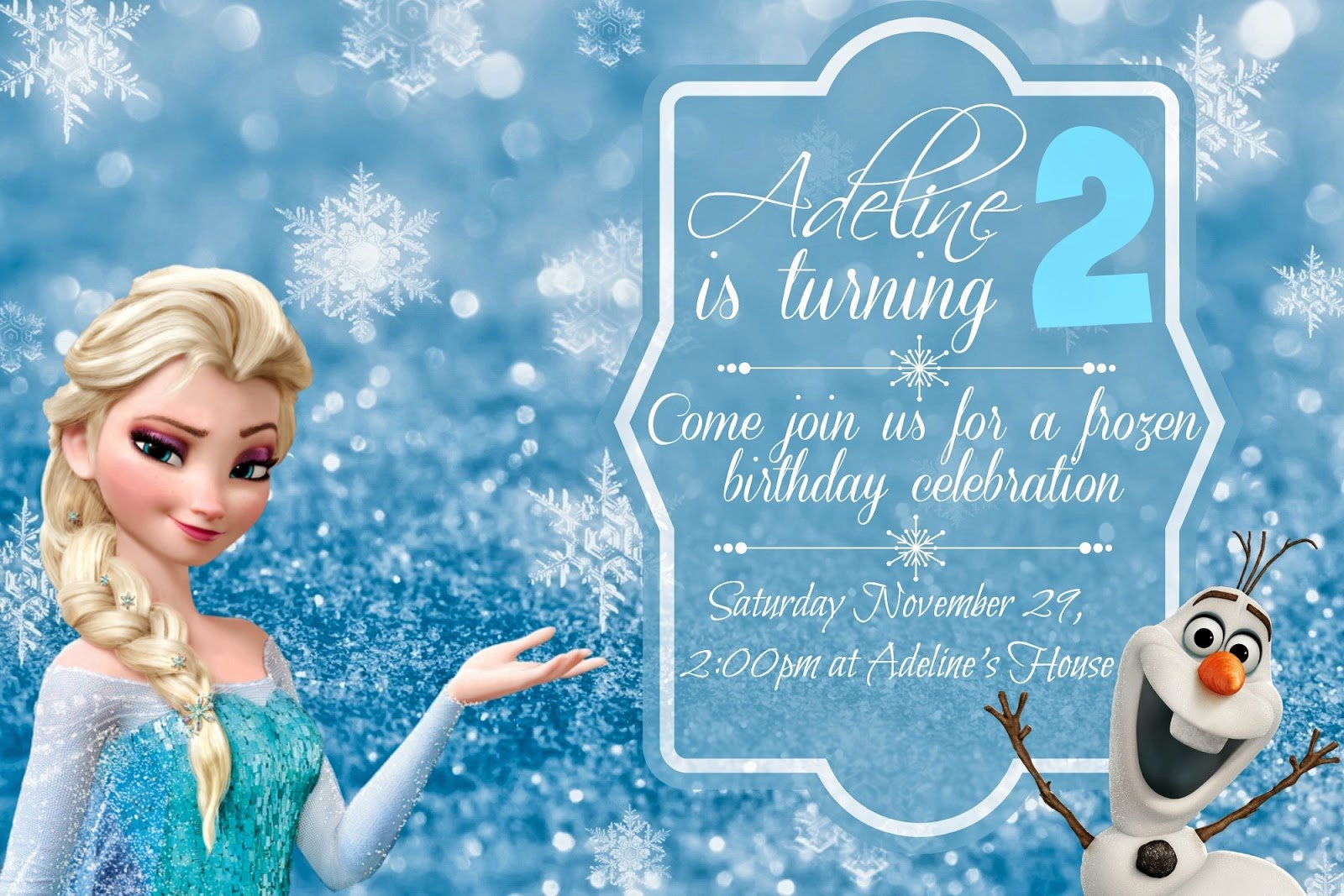 Frozen Invitation Template Free Download Lovely orchard Girls Free Frozen Birthday Party Invitations and