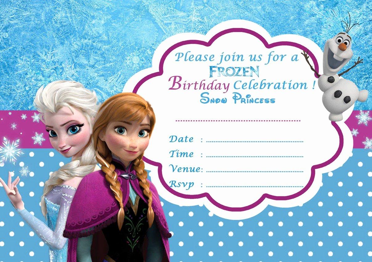 Frozen Invitation Template Free Download Luxury Frozen Free Printable Invitation Templates