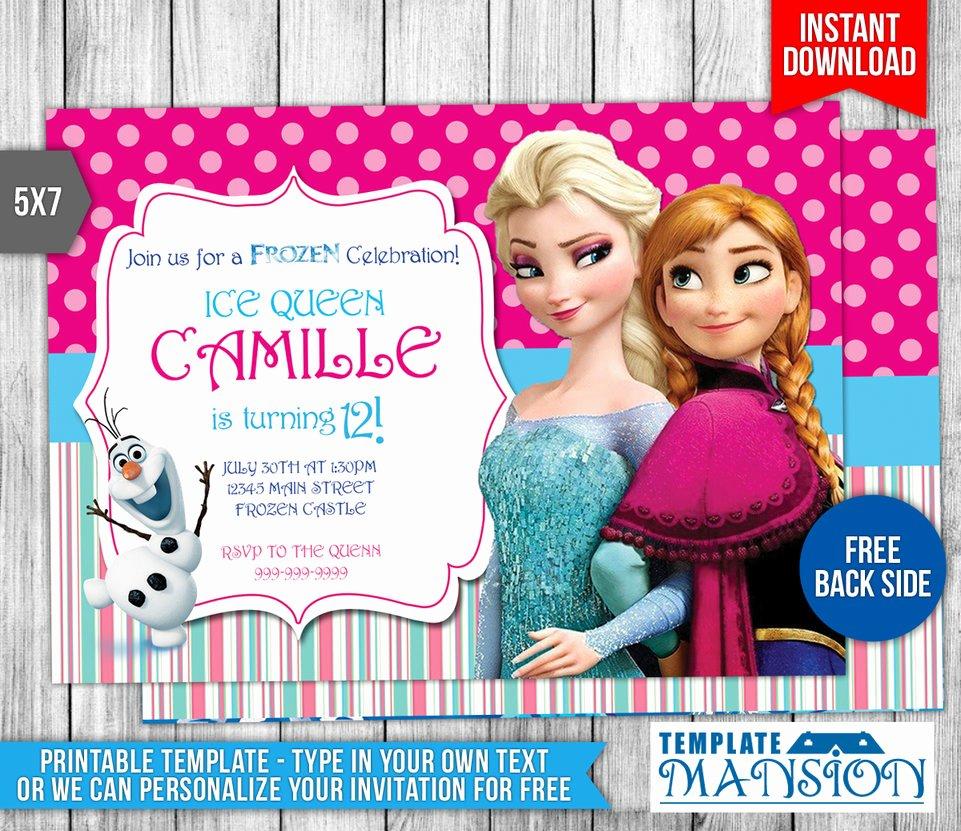 Frozen Invitation Template Free Download Unique Disney Frozen Birthday Invitation 2 by Templatemansion On