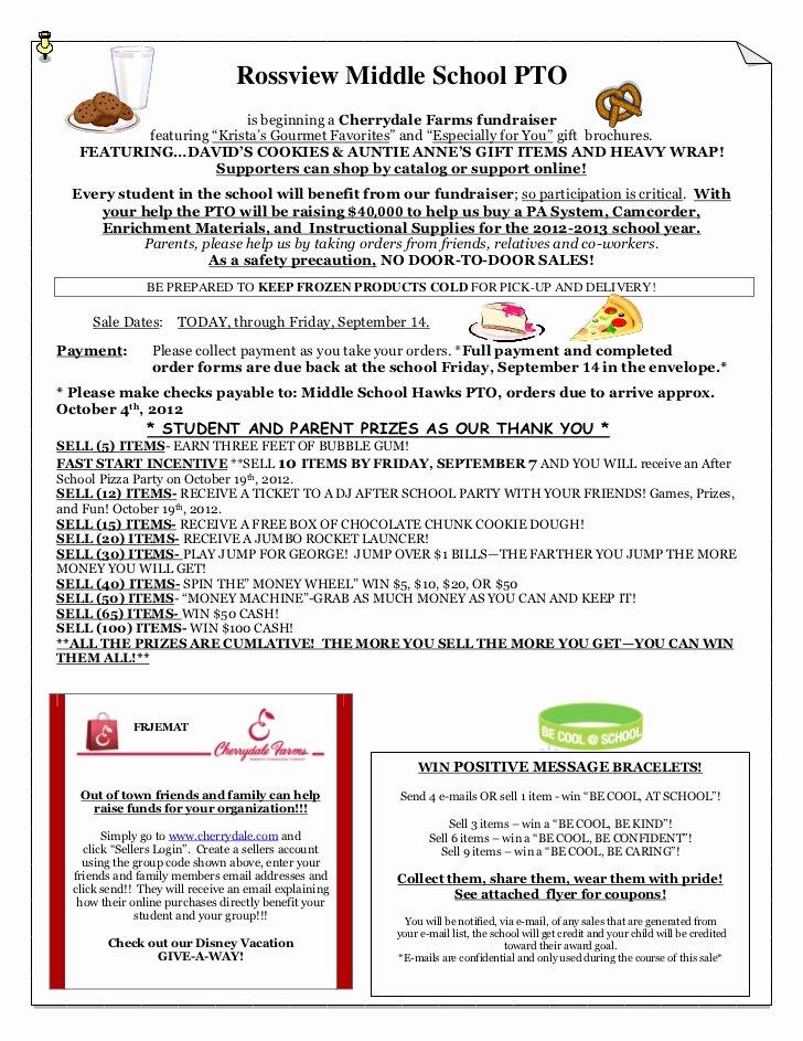 Fundraising Letter to Parents Elegant Cherrydale Fundraiser Parent Letter