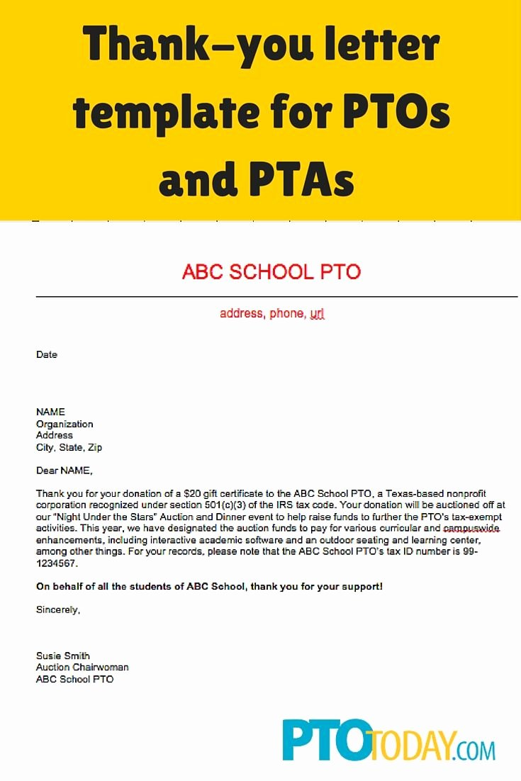 Fundraising Letter to Parents Inspirational Pin On Fundraising Pto & Pta