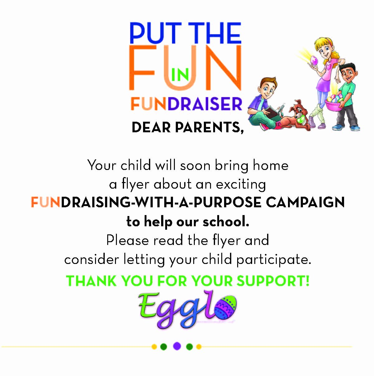 Fundraising Letter to Parents Lovely Egglo Fundraiser Egglo Entertainmentegglo Entertainment