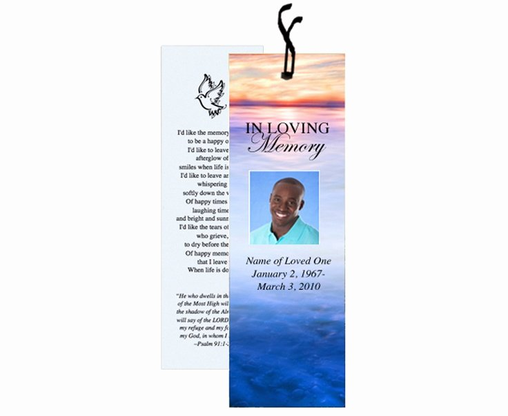 Funeral Bookmarks Template Free Beautiful 12 Best Images About Memorial Bookmarks Printable Templates On Pinterest