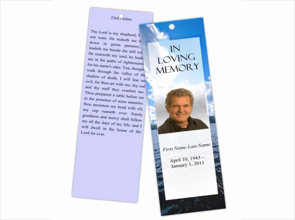 Funeral Bookmarks Template Free Beautiful 15 Funeral Bookmark Templates Psd Vector Eps