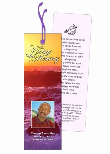 Funeral Bookmarks Template Free Luxury Elegant Printable Memorial Bookmarks that are Easy to Use and Creates Great Keepsake