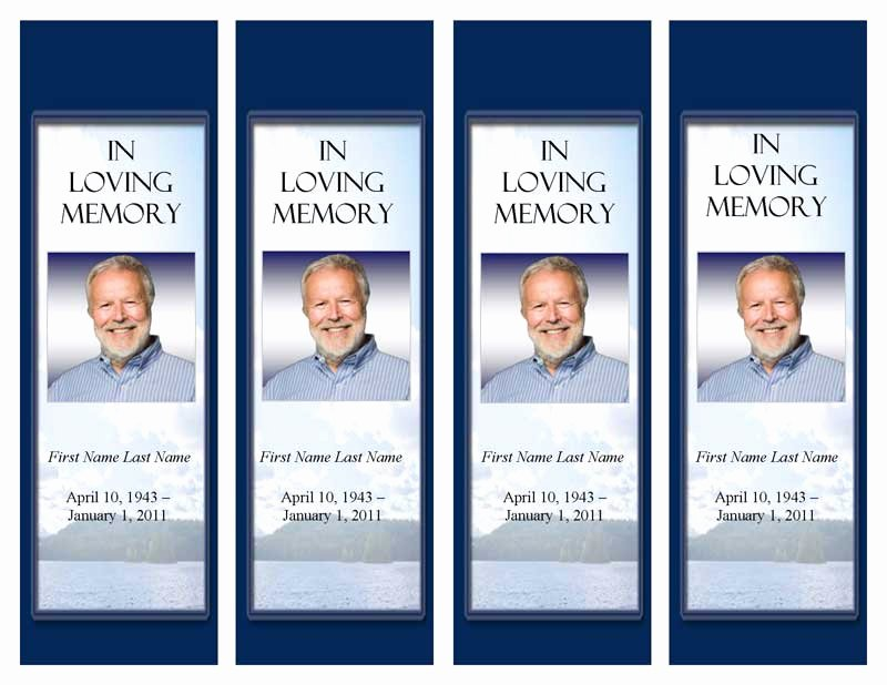 Funeral Bookmarks Template Free Luxury Funeral Program Templates Memorial Bookmark