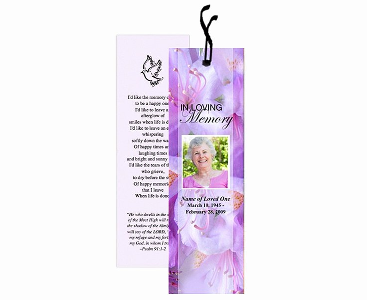Funeral Bookmarks Template Free Unique 12 Best Images About Memorial Bookmarks Printable Templates On Pinterest
