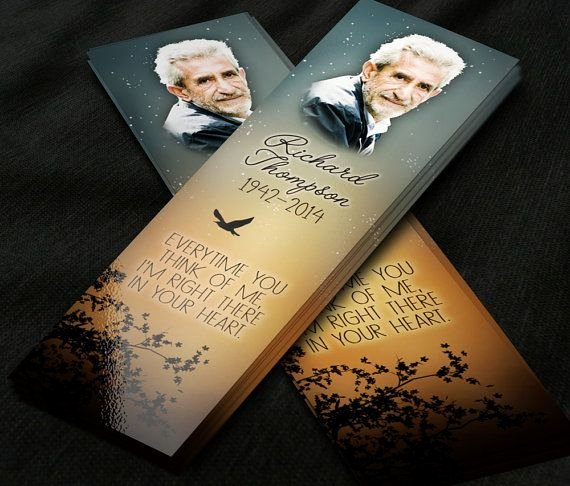 Funeral Bookmarks Template Free Unique 7 Best Images About Rememberance Cards On Pinterest