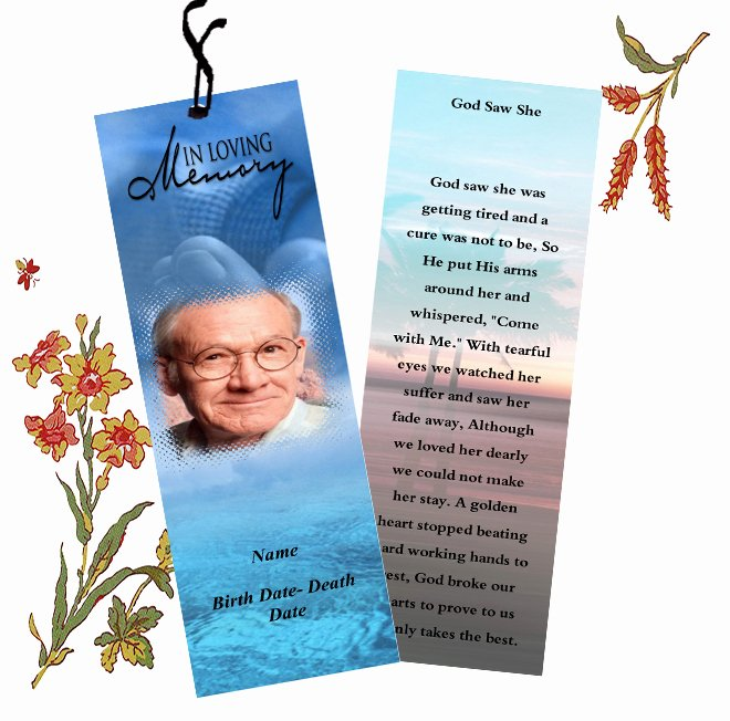 Funeral Bookmarks Template Free Unique Funeral Bookmarks Template