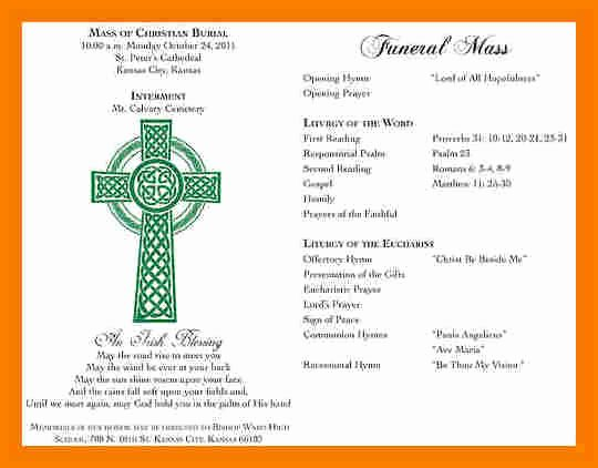 Funeral Mass Program Template Awesome 5 Funeral Mass Program