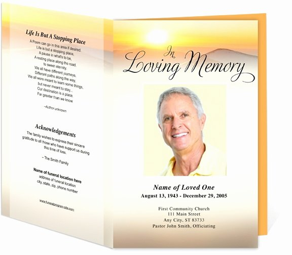 Funeral Mass Program Template Beautiful Funeral Programs Summit Bifold Funeral Templates for A Funeral order Of Service Ceremony