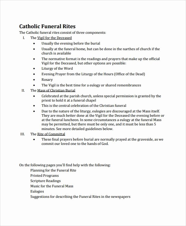 Funeral Mass Program Template Beautiful Sample Catholic Funeral Program 12 Documents In Pdf Psd Word