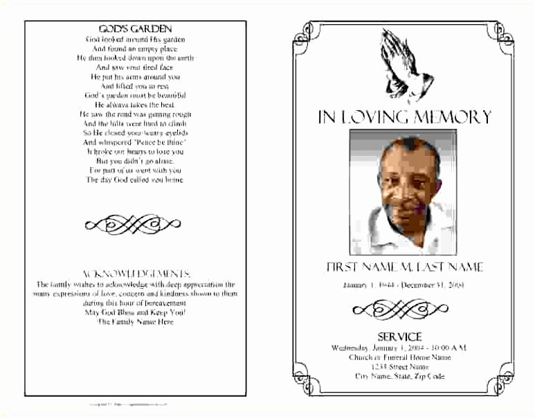 Funeral Mass Program Template Best Of 5 Funeral order Service Template Publisher Yoeut