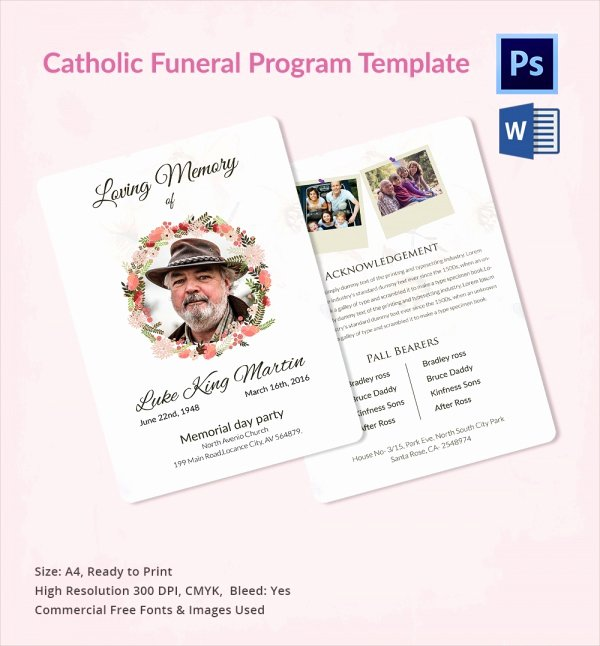 Funeral Mass Program Template Best Of Catholic Funeral Program