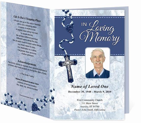 Funeral Mass Program Template Inspirational Pin On Creative Memorials with Funeral Program Templates