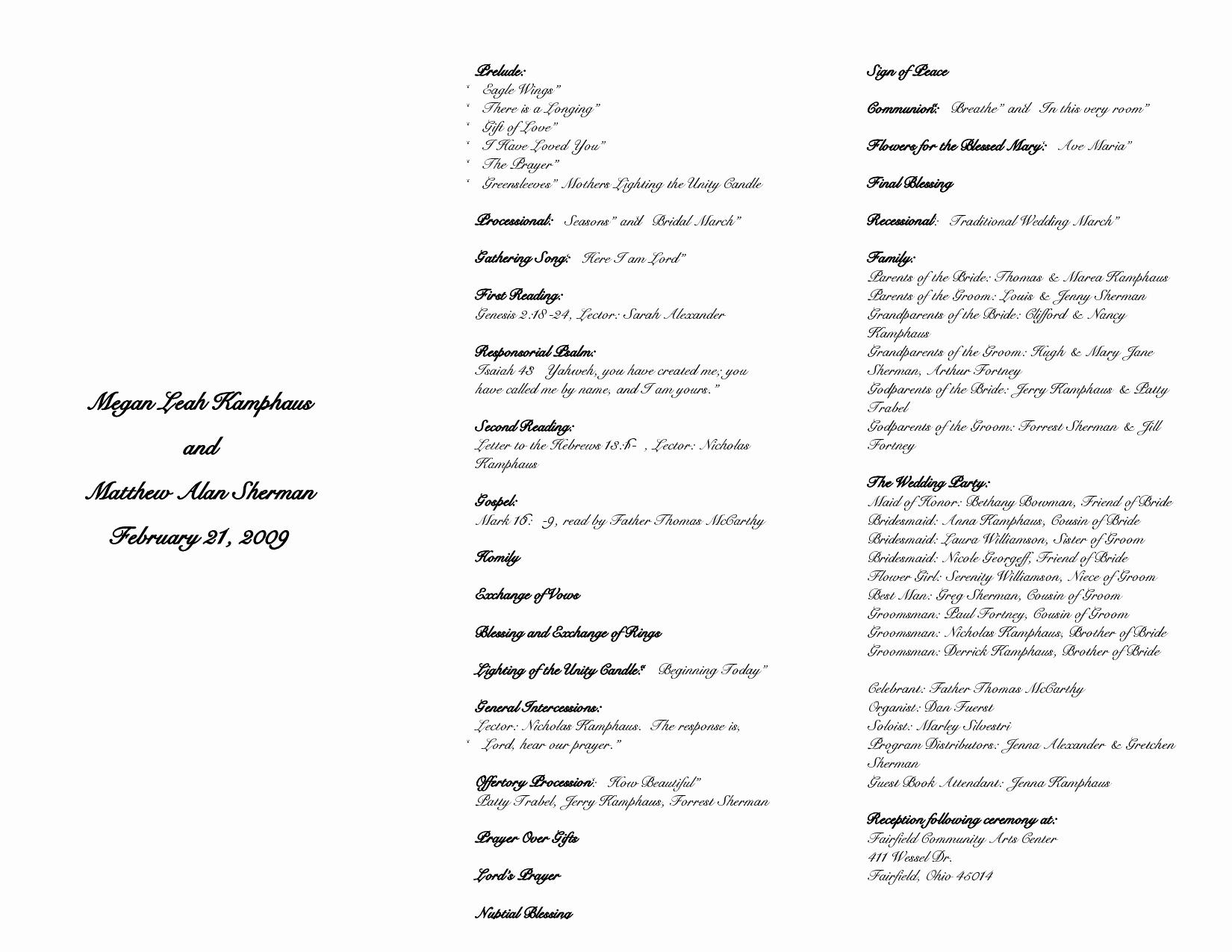 Funeral Mass Program Template Lovely 27 Of Catholic Funeral Mass Program Template