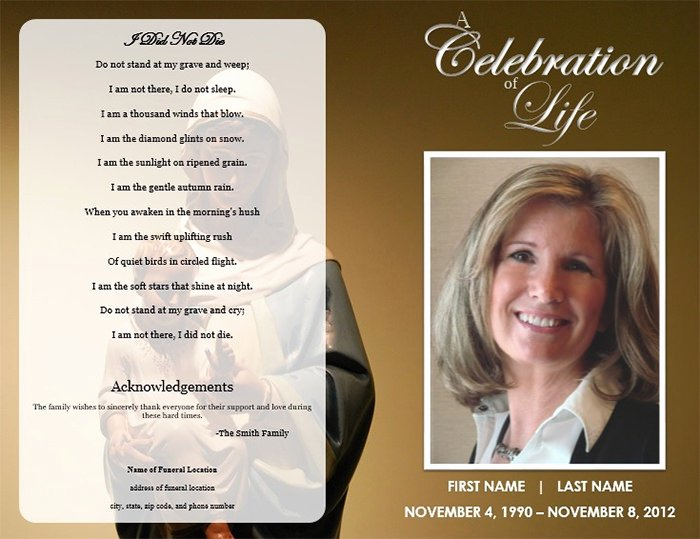 Funeral Mass Program Template Lovely 39 Funeral Program Templates Pdf Psd Docs
