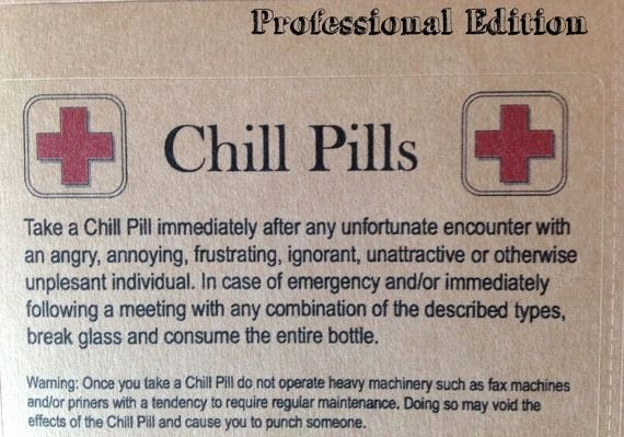 Funny Pill Bottle Labels Fresh Chill Pill for Various themes Glass Apothecary Jar Funny Gag Gift