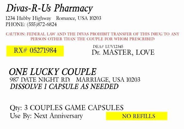 Funny Pill Bottle Labels Luxury Prescription for Fun A Free Printable Romance Idea