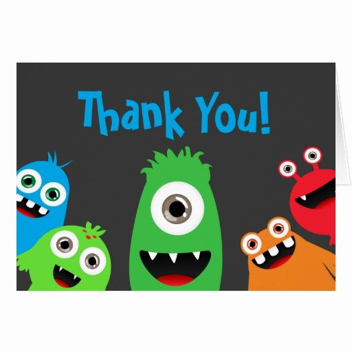 Funny Thank You Notes Best Of Fun Monster Bash Thank You Notes