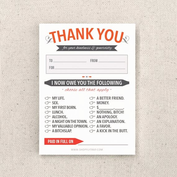 Funny Thank You Notes Best Of Funny Thank You Notes Sticky Notes Sarcastic by Flytrap E