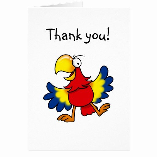 Funny Thank You Notes Elegant Funny Parrot Thank You Card