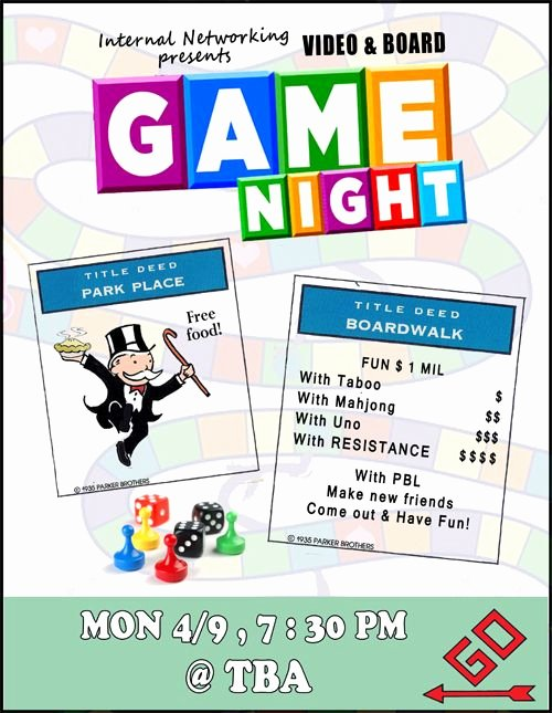 Game Night Flyer Template Beautiful Game Night Flyer Game Night Party Pinterest