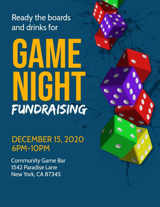 Game Night Flyer Template Beautiful Game Night Flyer Template