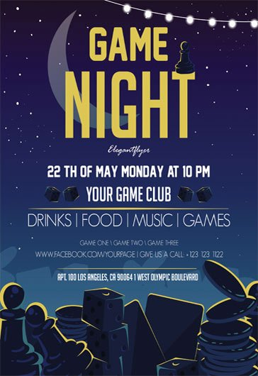 Game Night Flyer Template Elegant Free Psd Flyers Templates for event Club Party and