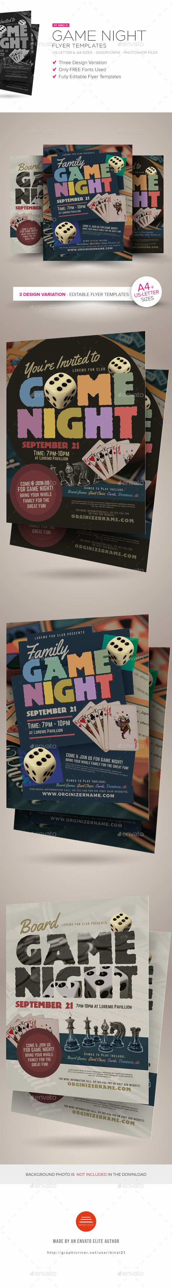 Game Night Flyer Template Fresh Game Night Flyer Templates by Kinzi21