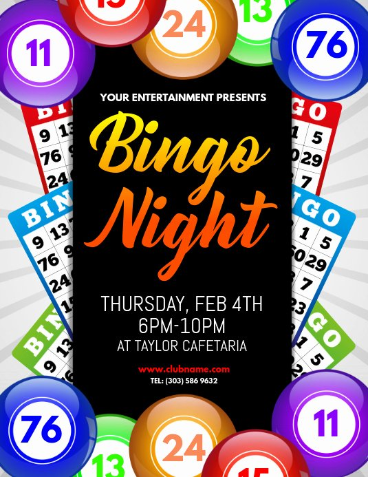 Game Night Flyer Template Lovely Bingo Night Flyer Template