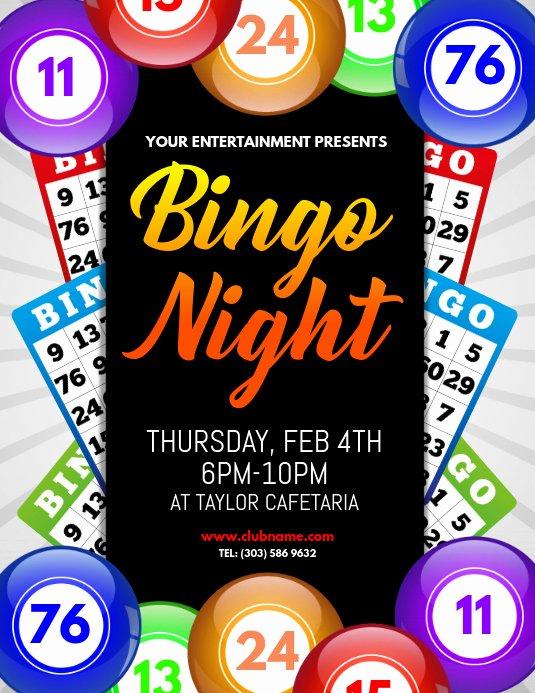 Game Night Flyer Template Lovely Bingo Night Flyer Template