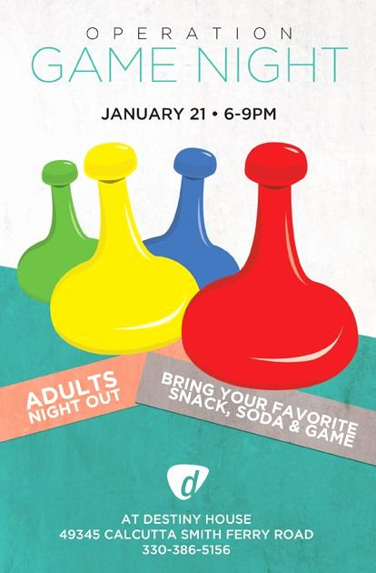 Game Night Flyer Template Lovely Operation Game Night Flyer