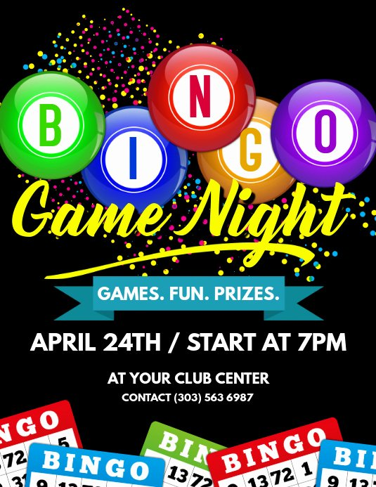 Game Night Flyer Template Luxury Bingo Game Night Flyer Template