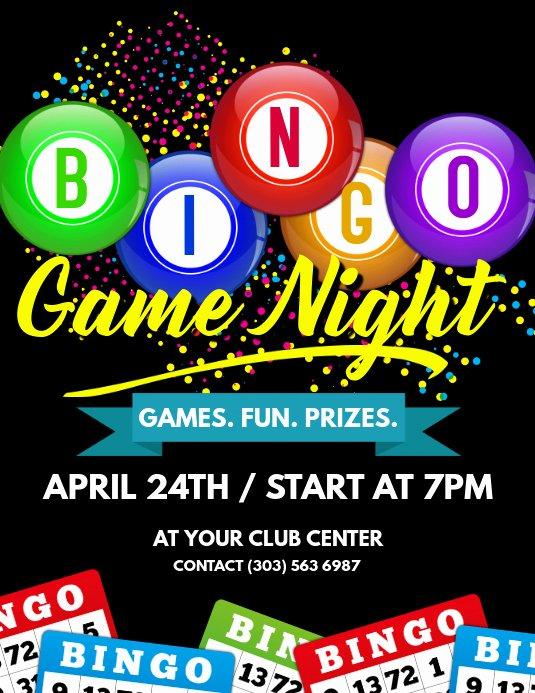 Game Night Flyer Template Luxury Bingo Game Night Flyer Template