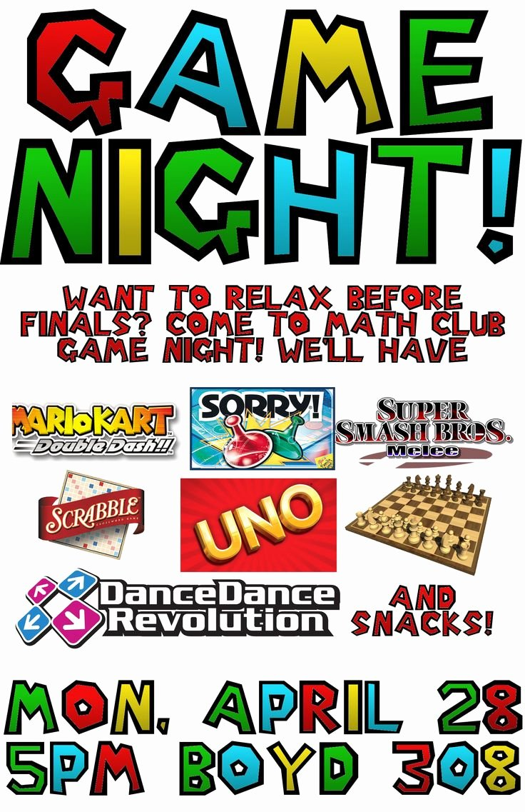 Game Night Flyer Template New 11 Best Game Night Invitations Images On Pinterest
