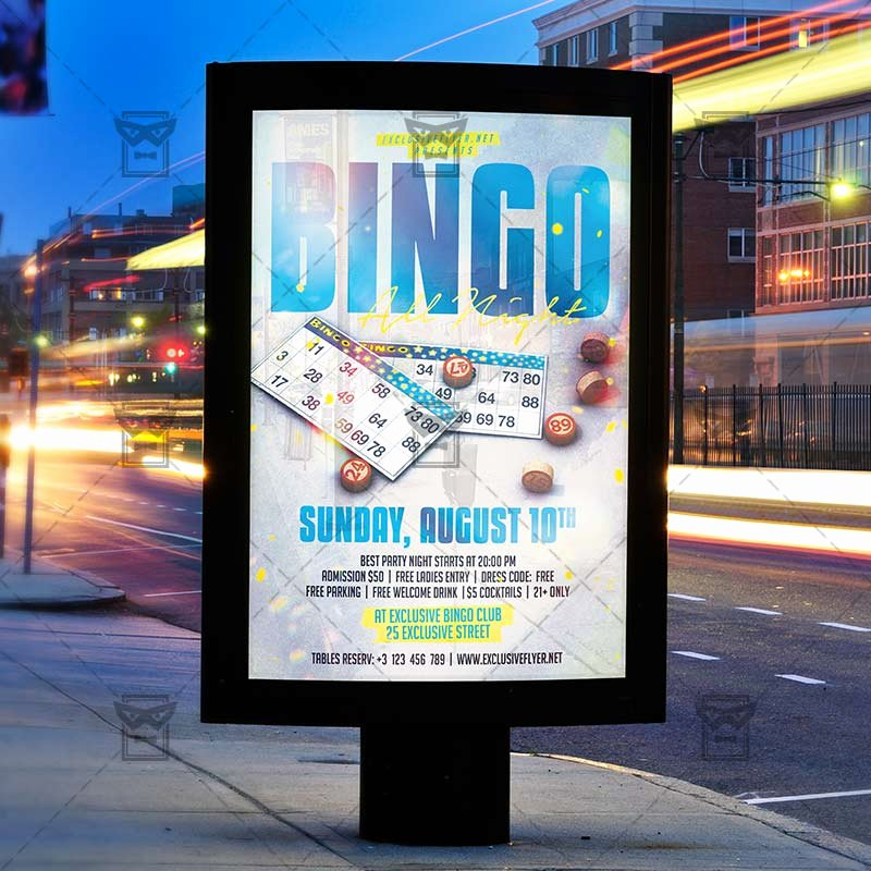 Game Night Flyer Template New Bingo Game Night – Sport A5 Template