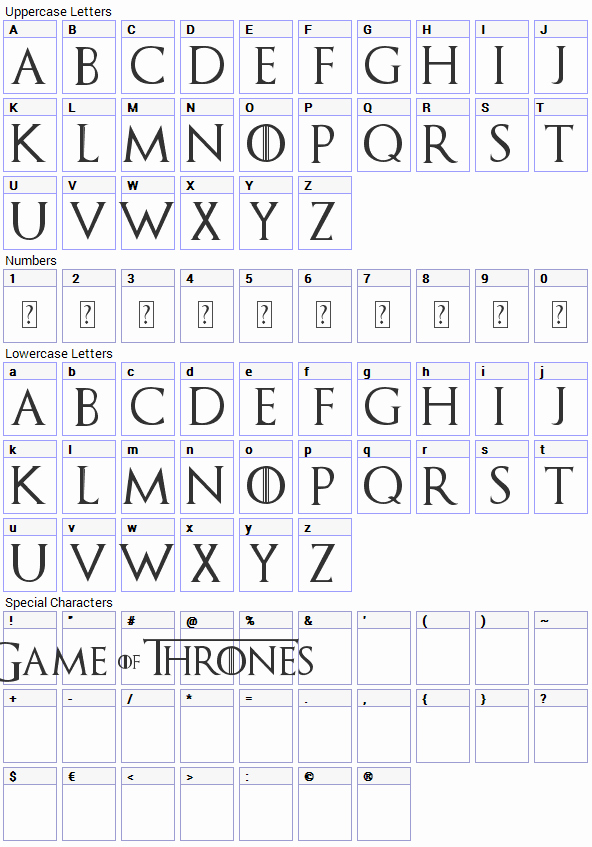 Game Of Thrones Font Elegant Game Of Thrones Font Download Fonts4free