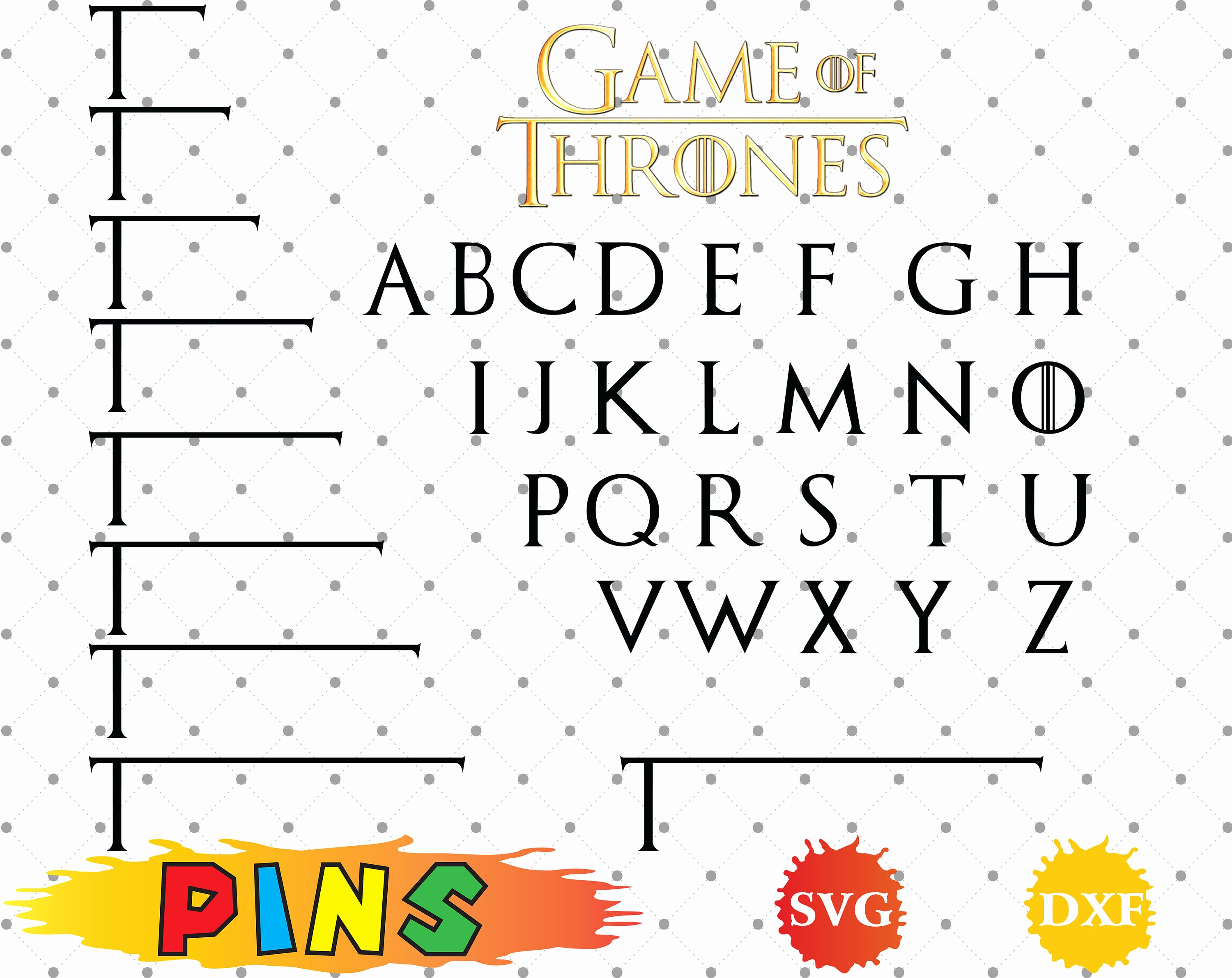 Game Of Thrones Font Lovely Game Thrones Font Svg Dxf Game Thrones Alphabet Game Thrones Letters for Design Print