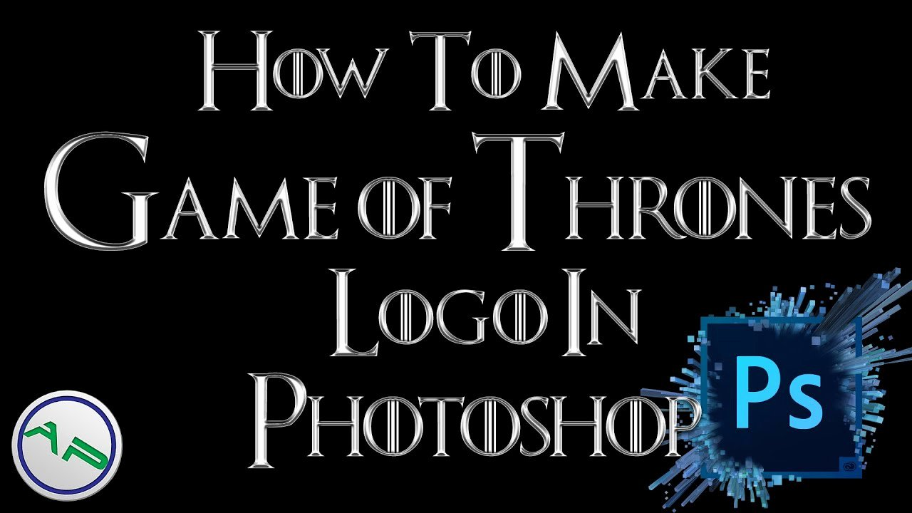Game Of Thrones Font Lovely How to Make the Game Of Thrones Logo Font Using Shop [ Shop Cc Tutorial 2015]