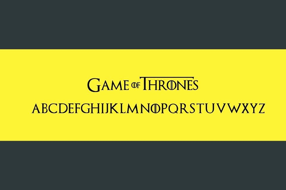 Game Of Thrones Font New Game Of Thrones Font