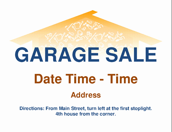 Garage Sale Flyer Template Free Awesome Garage Sale Flyer