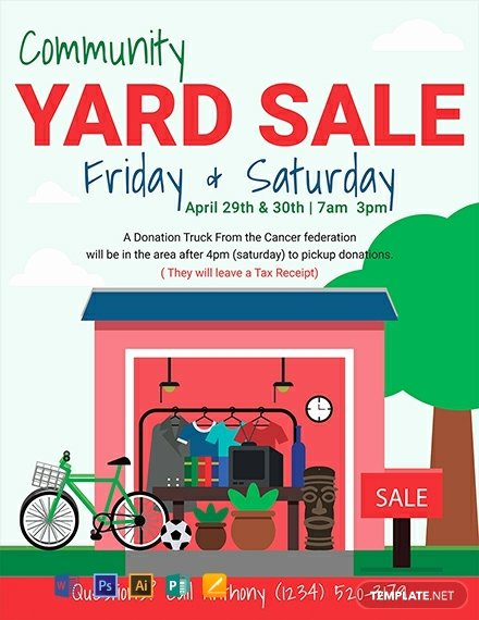 Garage Sale Flyer Template Free Beautiful Free Yard Sale Flyer Template Word Psd Apple Pages Publisher Illustrator