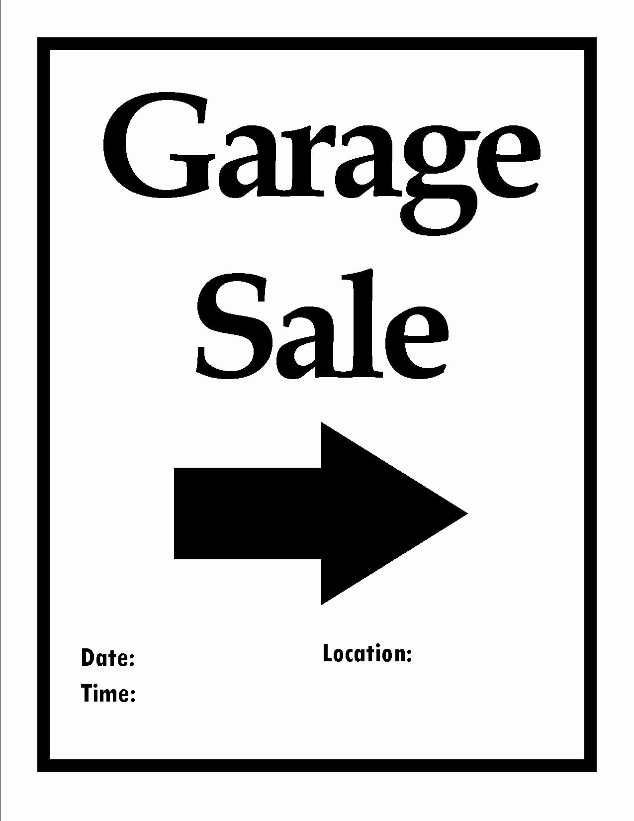 Garage Sale Flyer Template Free Elegant Printable Items to organize Your Next Move