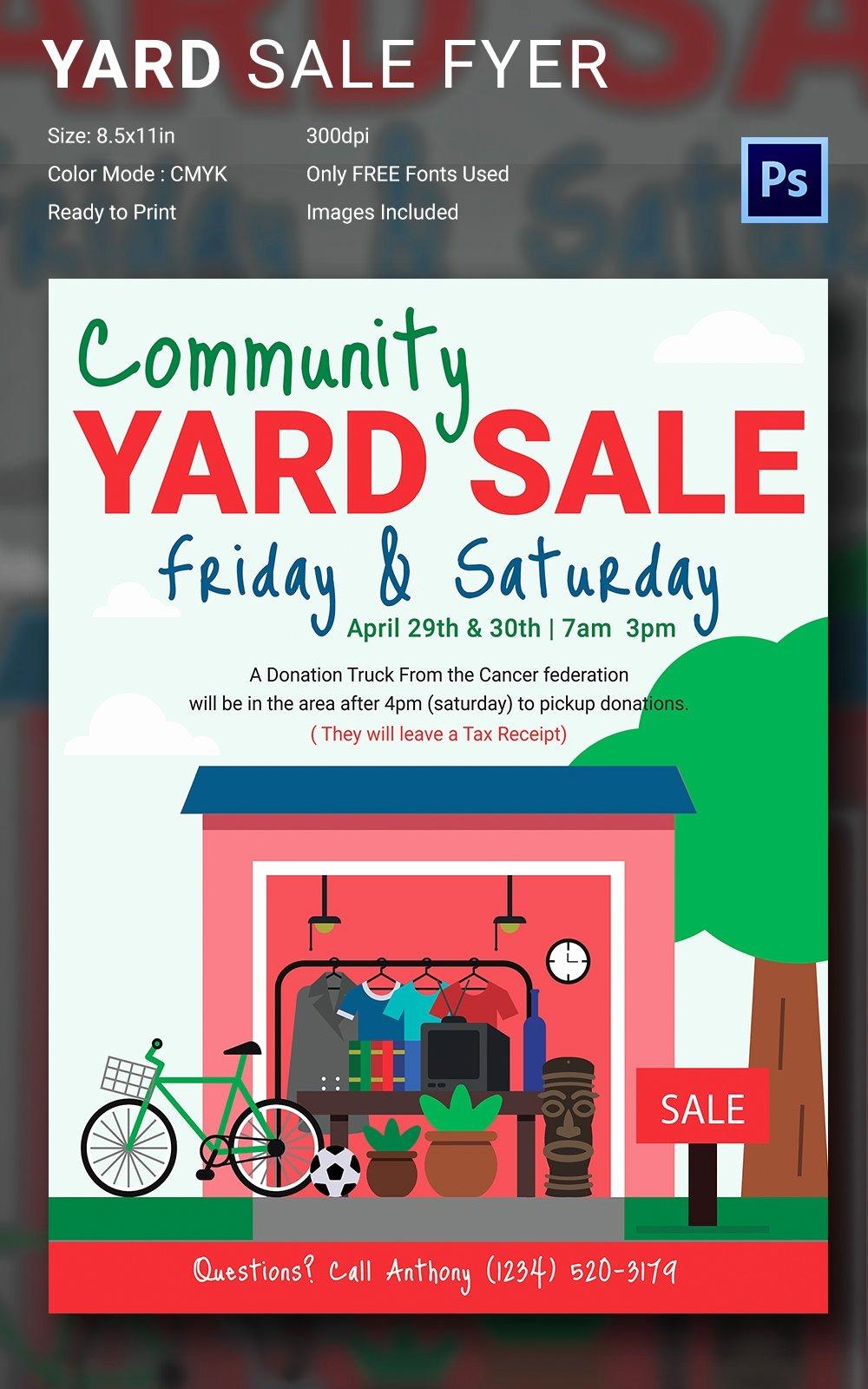 Garage Sale Flyer Template Free Inspirational 14 Best Yard Sale Flyer Templates & Psd Designs